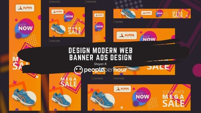 Design Modern Web banner ads design