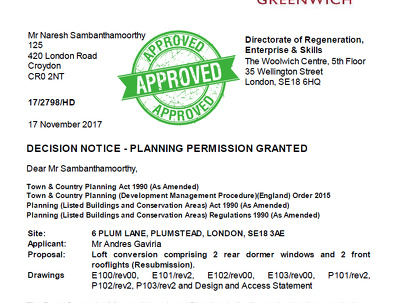Planning permission drawings and submit to council