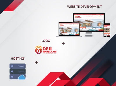 Do Custom Modern website with logo and hosting