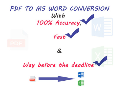 Convert 20 pages of PDF, Scanned and Image Docs to Word or Excel