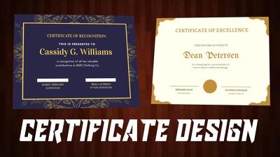 Do professional certificate, award certificate design