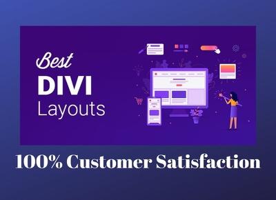 Build divi wordpress website using divi theme
