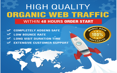 Send 1000 Daily Organic Traffic with 4-5 minute visit time