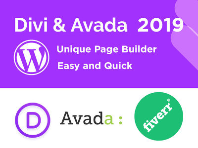 Design WordPress Website With Avada or and  Divi Theme Included