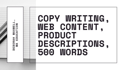 Write up to 500 words of copy