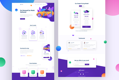 Design unique  & modern landing page or homepage