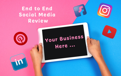 Carry out a Social Media andWebsite Review + Competitor Analysis