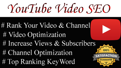 Do Best YouTube SEO For Improving Video & Channel Ranking