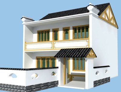 Realistic Exterior Visualization from 2D CAD Plans.