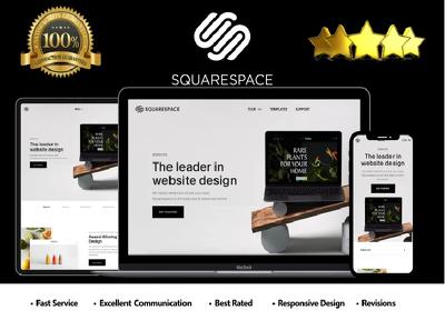 i will make a professional squarespace website