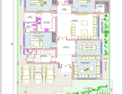 Create Architectural drawings and attractive interior design