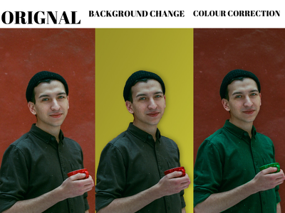 Do changing background with picture adjusment