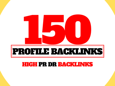 Manually create 150 Quality Profile Backlinks in 24 Hours