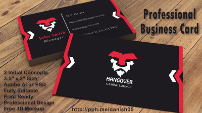 Design Business Card + Unlimited Revisions + Source File