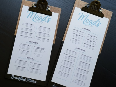 Design a menu for your restaurant, coffee shop, cafe, takeaway