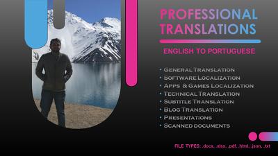 Translate English to Portuguese