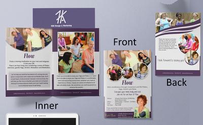 Do Clean Bi Fold Brochure Design