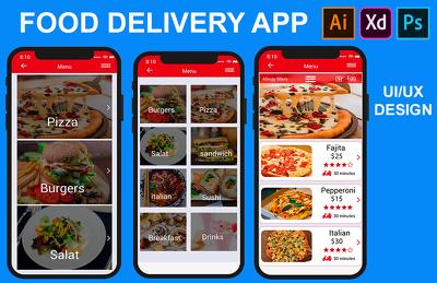 Design mobile app UI UX
