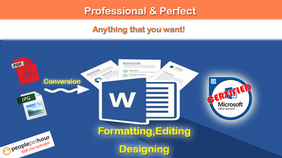 Edit, format or redesign your word doc professionally