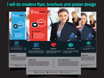 Design a professional flyer or poster design for you