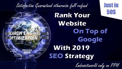 Do SEO backlinks & Rank your website on Top of google