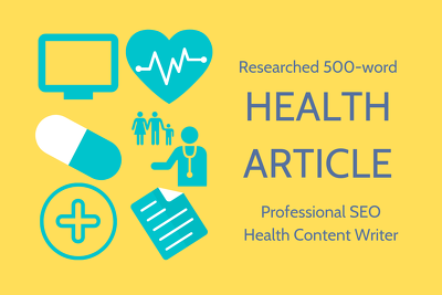 Write a researched 500w article on health/wellness/medical topic