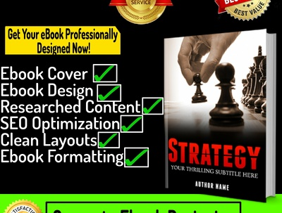 Design and format ebook complete professionally in any niche