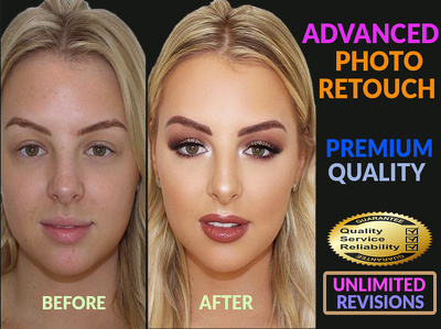 High end beauty 2 images editing and retouching, photo retouch