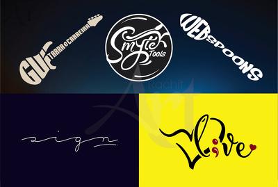Design your Creative Logo, Textual Logo, Trace Logo