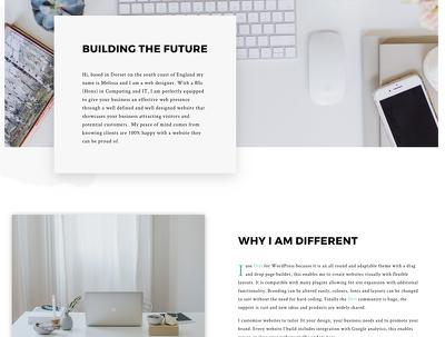 Create a clean responsive WordPress website
