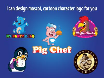 Design mascot, cartoon character logo design for you