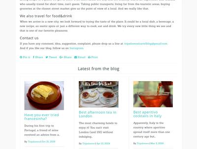 Set up a simple wordpress website.