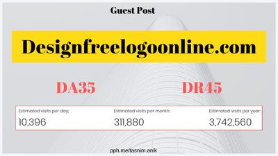 Write & publish a guest post on Designfreelogoonline.com DA35