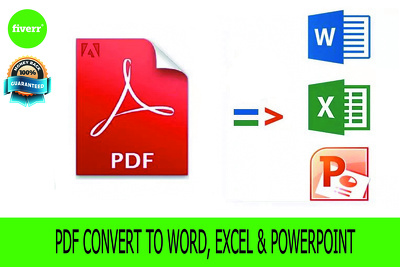 Convert PDF into word and excel