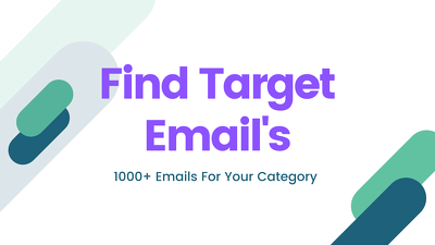 Find 1000 target email address as you want