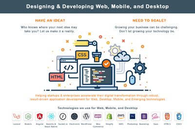 Build and design website using top-notch technology