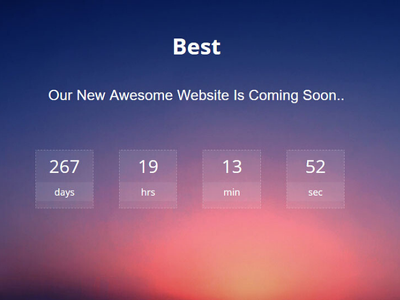 I will create an amazing coming soon webpage