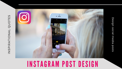 Design social media posts for Facebook, twitter, Instagram