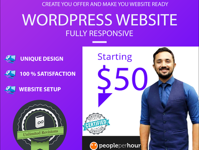 Develop responsive , landing pages using WordPress website