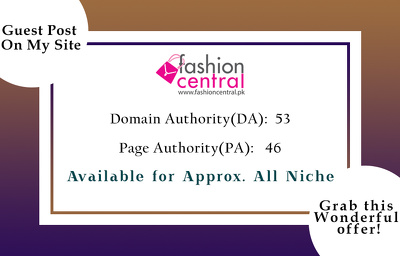 Guest Post on fashioncentral.pk  (DA: 53)