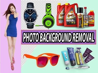 20 image cut out, bulk photo background removal professionally