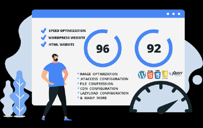 Do speed optimization for WordPress and html website