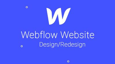 create or redesign responsive webflow website