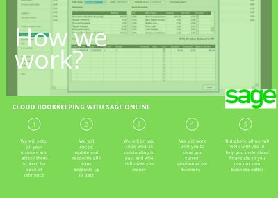 Provide Sage bookkeeping for up to 50 transactions