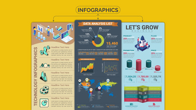 Create a professional design infographic