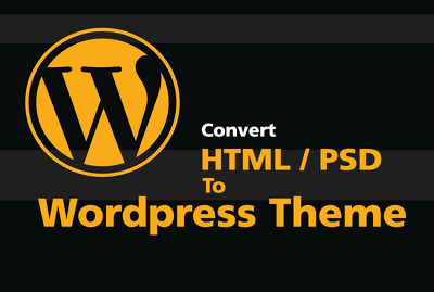 Convert HTML template to Wordpress Theme