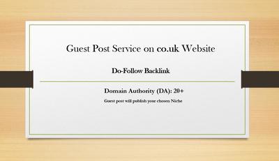 Guest Post Service on co.uk/.com website DA20+