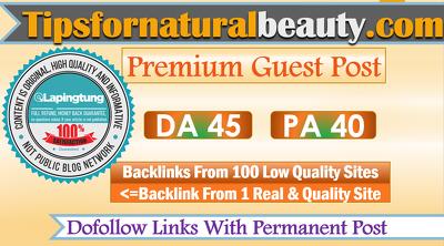publish A Guest Post on Tipsfornaturalbeauty.com - DoFollow