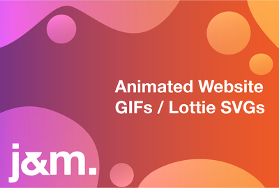Create an animated gif or lottie svg for your website