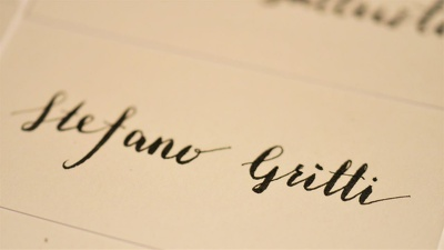 Do calligraphy for your wedding name card, invitations and menu